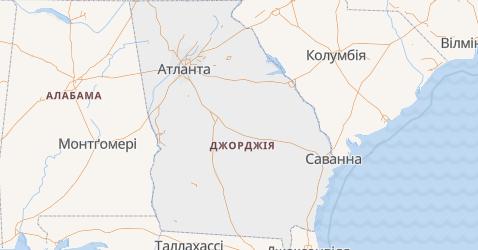 Джорджия - мапа