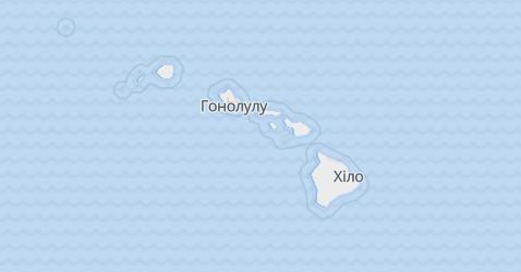 Гавайські острови - мапа