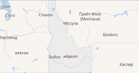 Айдахо - мапа