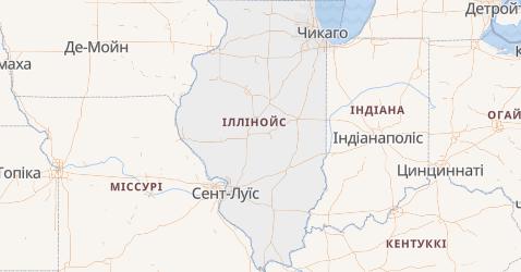 Іллінойс - мапа