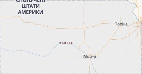 Канзас - мапа