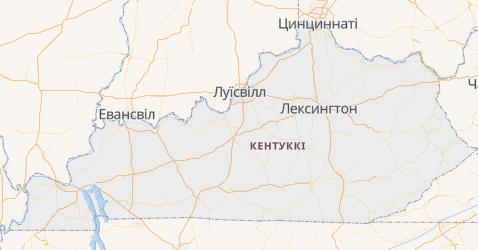 Кентуккі - мапа