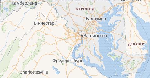 Меріленд - мапа