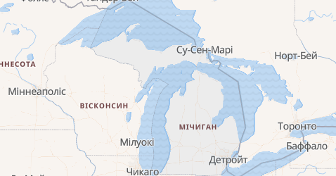 Мічиган - мапа