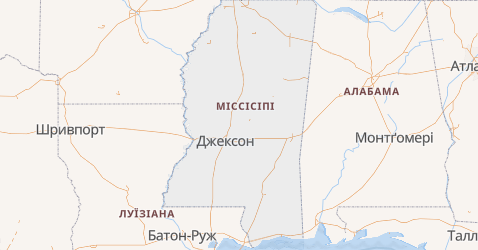 Міссісіпі - мапа