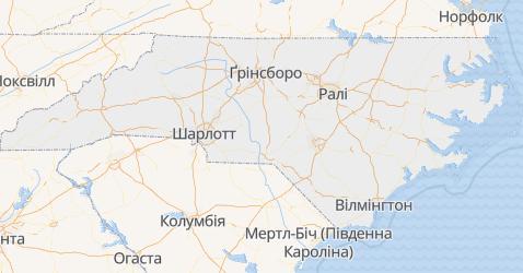 Північна Кароліна - мапа