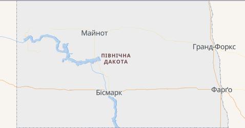 Північна Дакота - мапа