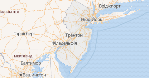 Нью-Джерсі - мапа