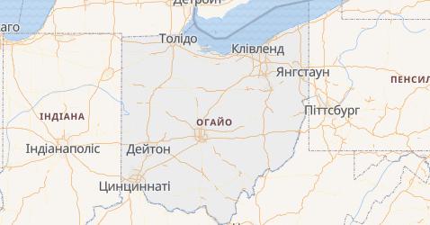 Огайо - мапа