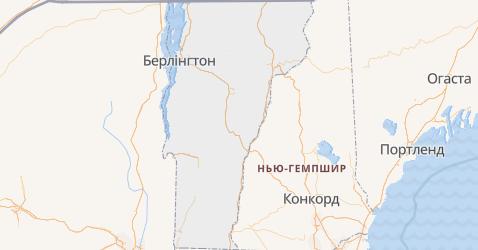 Вермонт - мапа