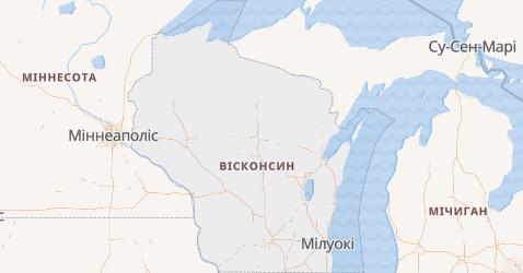 Вісконсин - мапа