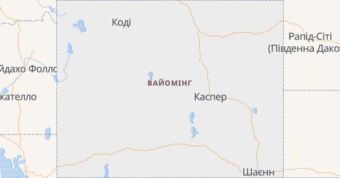 Вайомінг - мапа