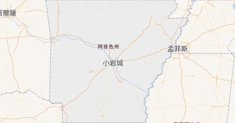 阿肯色州地图