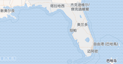 佛罗里达州地图
