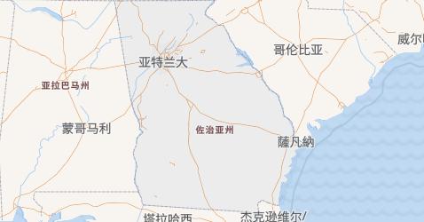 乔治亚地图