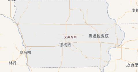 艾奥瓦州地图