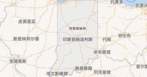 印第安纳州地图