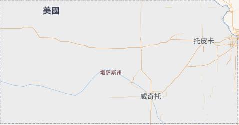 堪薩斯州地图