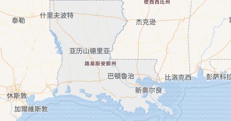 路易斯安那州地图