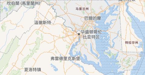 马里兰州地图