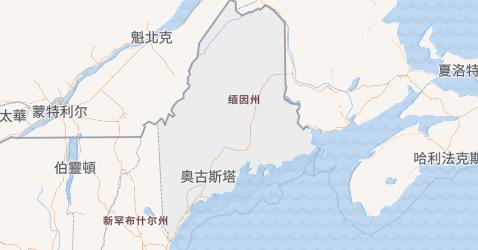 缅因州地图