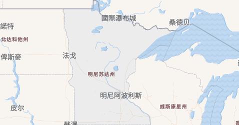 明尼苏达州地图