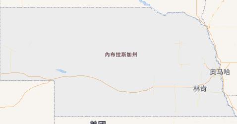 內布拉斯加州地图