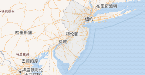 新泽西州地图