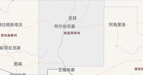 新墨西哥州地图