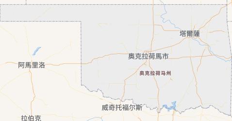 奧克拉荷馬州地图