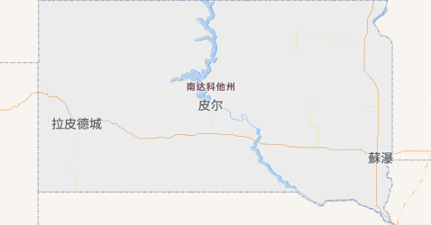 南达科他州地图