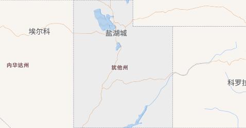 犹他州地图