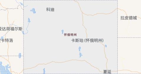 怀俄明州地图